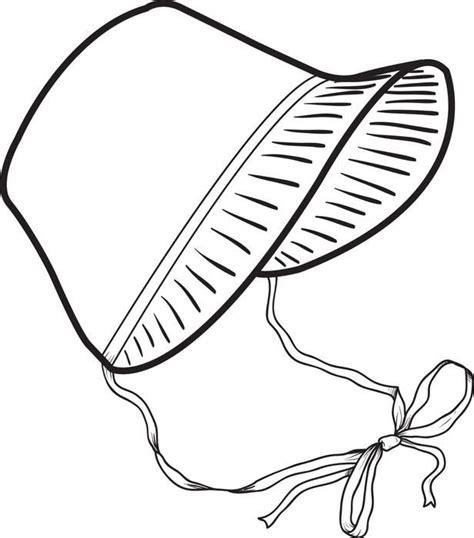 printable pilgrim bonnet coloring page  kids
