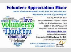 Volunteer Appreciation Mixer – The Arc of Greater Beaumont