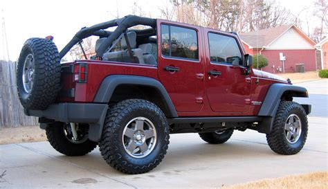 jeep wrangler maroon lifted unlimited rubicon 3 quot black lift 35 quot hankook