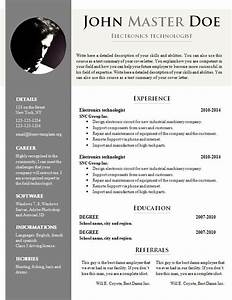 free cv template 681 687 free cv template dot org With resume template free download doc