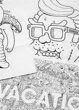Coloring Brosmind Livro Colorir Behance Weekly Muz Li sketch template