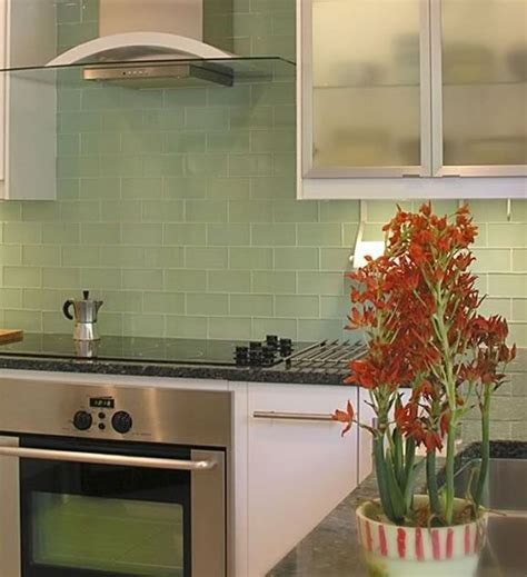 green glass backsplashes for kitchens sle of lush surf pale green 3x6 glass subway tile