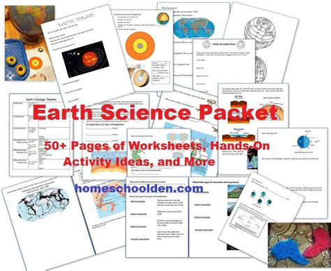 free earth science unit study 50 activities printables