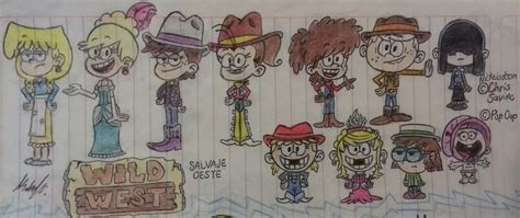 The Loud House (salvaje Oeste) Fanart Pvz 2 By