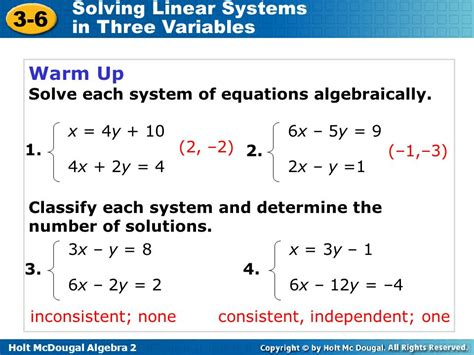 Solving Linear Systems In Three Variables Ppt Video Online Download