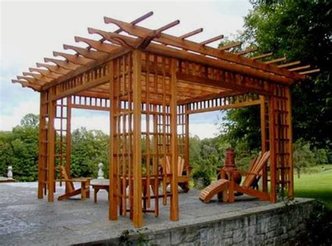 wooden structure patio 22 beautiful wooden garden designs to personalize backyard landscaping