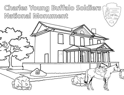 charles young buffalo soldiers coloring book charles