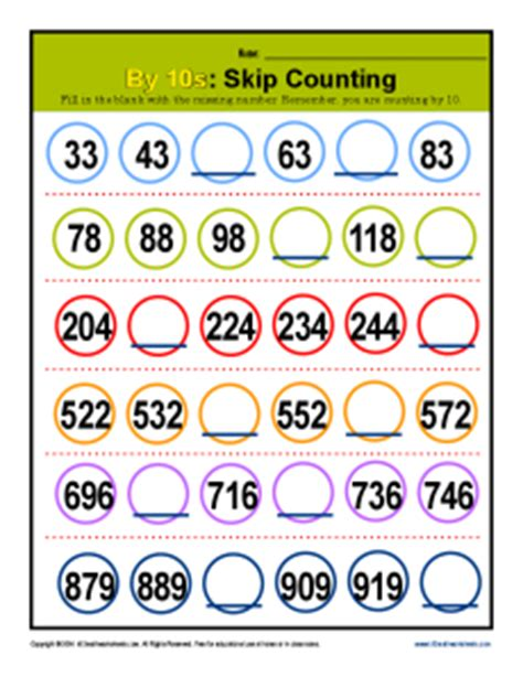 skip counting   patterns  grade math practice