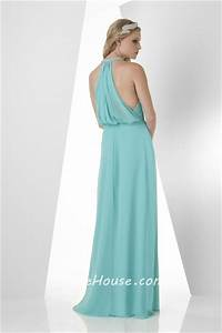 a line halter long turquoise chiffon ruffle wedding guest With turquoise dress for wedding guest