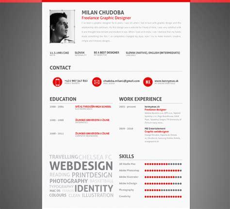 40 impressive resume cv designs yvelle design eye