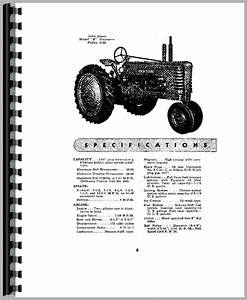 John Deere B Tractor Operators Manual