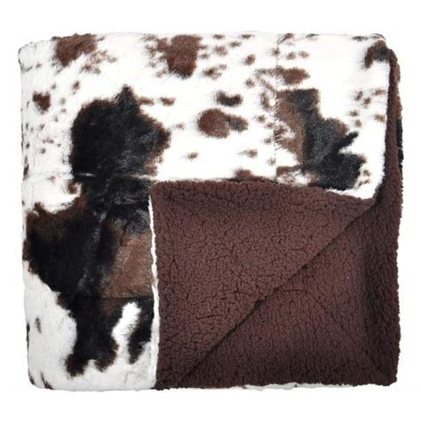 Cowhide Blanket - cowhide print throw blanket tadpoles