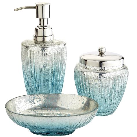 Teal Colored Bathroom Accessories by Juliette Glass Bath Accessories Turquoise Teal Aqua