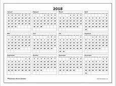 Kalenders om af te drukken 2018 België