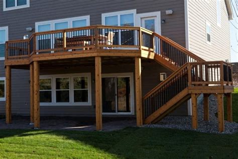walk out basement deck designs