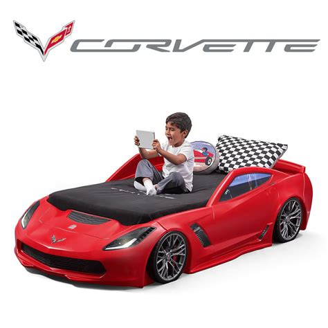 Corvette Car Bed - corvette z06 toddler to bed bed step2