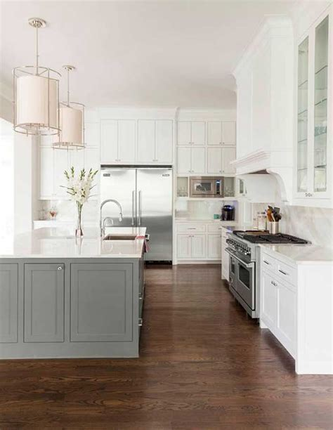 kitchens with different colored islands contrasting kitchen island get your colour right 8789