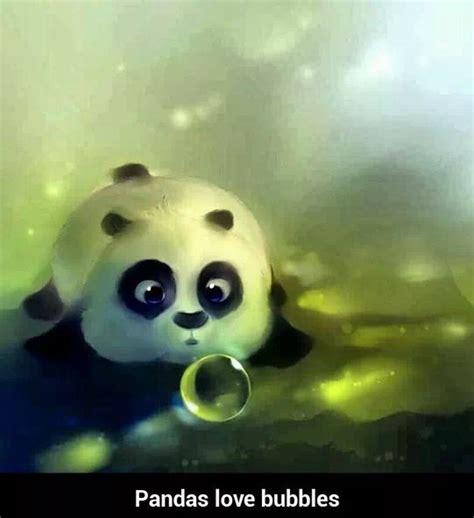 pandas love bubbles pandas