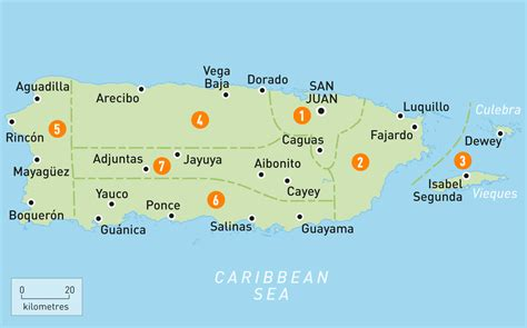 map  puerto rico puerto rico regions rough guides
