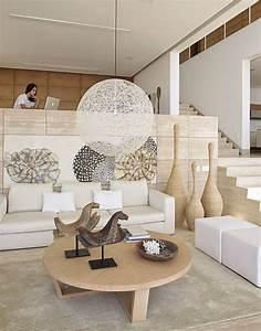 deco salon blanc et bois chaioscom With deco salon blanc et bois