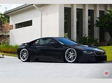 Matte Black BMW i8 on Vossen LC104 Wheels