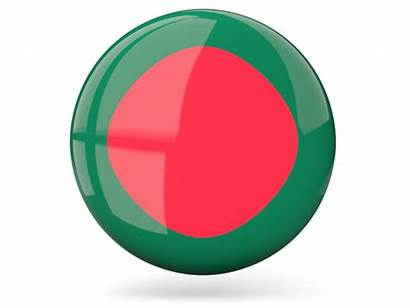 Bangladesh Icon Round Flag International India Glossy