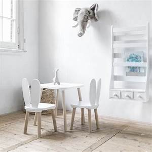 Table Scandinave Enfant : chaises et table enfant lapin blanc mobilier enfant original petite am lie ~ Teatrodelosmanantiales.com Idées de Décoration