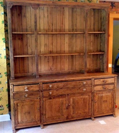 Antique Kitchen Hutch Cupboard by Antique Provincial Country Stepback Cupboard Hutch