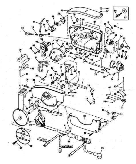 76 Evinrude 85 Hp Wiring Diagram by Johnson Remote Parts For 1976 85hp 85el76g