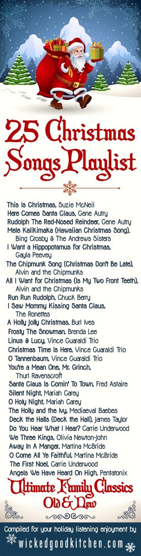 christmas playlist 25 family holiday classics wicked
