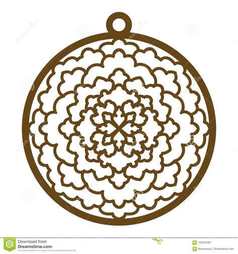 laser cut openwork christmas decoration vector design