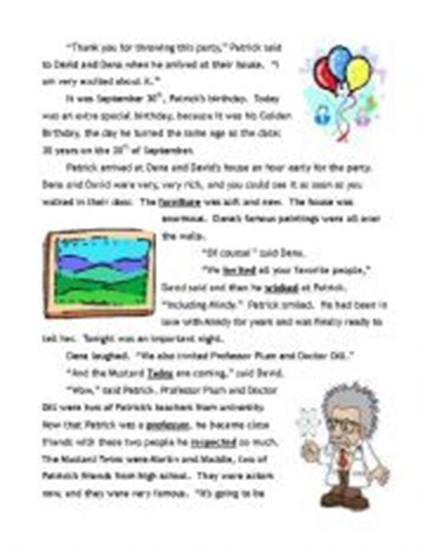 past tense mystery story with activities