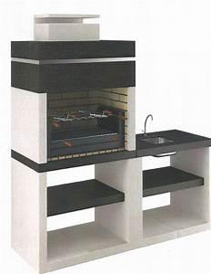 Barbecue En Dur : pierres et decor barbecues ~ Melissatoandfro.com Idées de Décoration