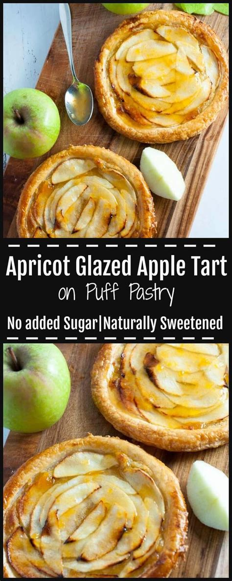 Apricot Glazed Apple Tart on Puff Pastry Recipe | Recipe ...