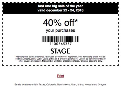 stage stores coupon 40 your purchase 12 22 12 24 12 19 2016