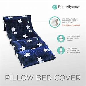 Butterfly, Craze, Kids, Floor, Pillow, Fold, Out, Lounger, King, Size, Navy, W, Star, 804534017790