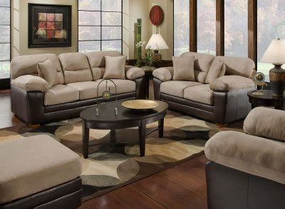 Microfiber And Loveseat Sets by Mocha Microfiber Sofa Loveseat Set W Bonded Leather Base