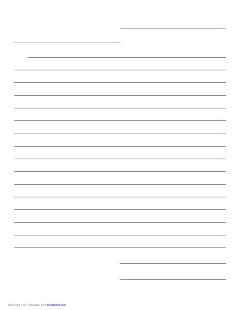 friendly letter paper template