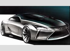 Car Design Sketch & Drawing Lexus LC YouTube