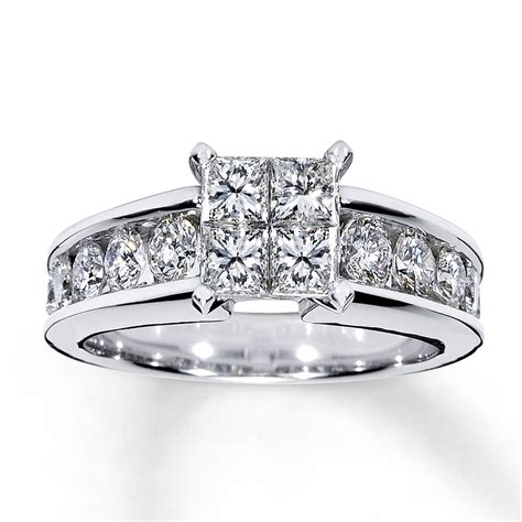 engagement ring 1 3 4 ct tw 14k white gold - 3 Ct Engagement Rings
