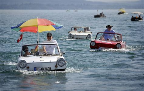 hibious car 26th amphibious car meet in switzerland amusing planet