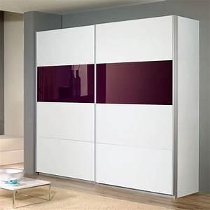 Schwebetürenschrank Weiß Grau : schwebet renschrank quadra in wei glas lila 271cm ebay ~ Markanthonyermac.com Haus und Dekorationen