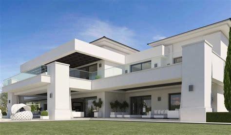 facade de villa moderne luxueuse villa par ark architects san roque espagne construire tendance