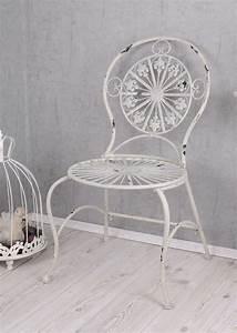 Stuhl Vintage Weiß : nostalgie gartenstuhl shabby chic stuhl weiss metallstuhl antik stil k niglich ~ Pilothousefishingboats.com Haus und Dekorationen
