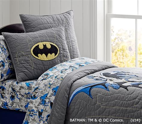 batman bed set batman quilt pottery barn