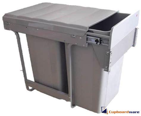 Kitchen Bin Inside Cupboard Door by Cupboardware Wesco Pull Out Waste Bin 52 Litre Door