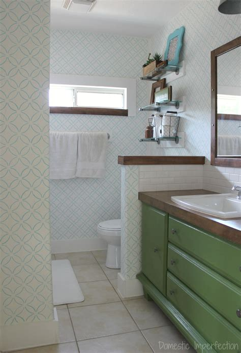 Diy Bathroom Projects On A Budget Master Bathroom Reveal Domestic Imperfection