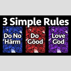 3 Simple Rules For Christian Living  Parker United Methodist Church