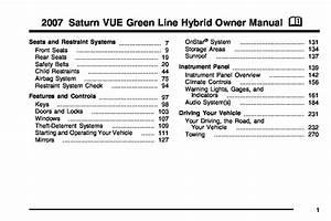2007 Saturn Vue Hybrid Owners Manual