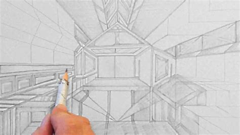 raum abstrakt zeichnen im zeitraffer abstract room